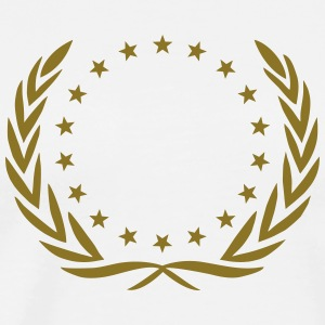 Laurel wreath, star, Award, Best, hero, winner,  T-Shirts - Men's Premium T-Shirt