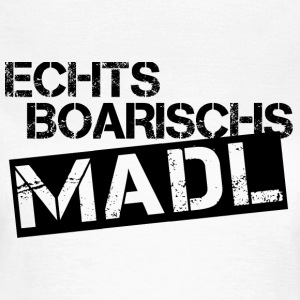 Echts Boarischs Madl - black T-Shirts - Frauen T-Shirt