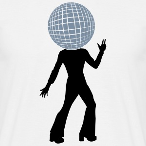 Dancer with disco ball head as  T-Shirts - Men's T-Shirt