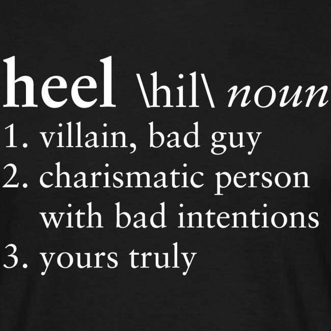 Heel Dictionary (Men)