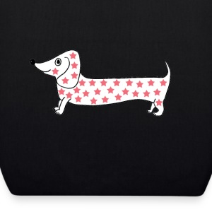 tote bag dachshund dog stars - EarthPositive Tote Bag