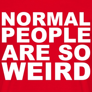 Normal People Are Weird T-shirts - Herre-T-shirt
