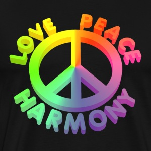 love peace  3 D 1 T-Shirts - Men's Premium T-Shirt