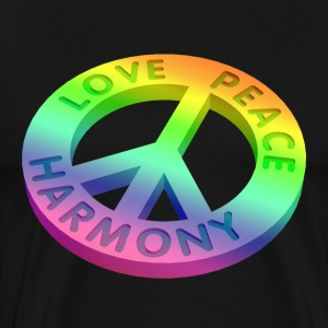 love peace  3 D 2 T-shirts - Herre premium T-shirt