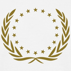 Laurel wreath, star, Award, Best, hero, winner,  T-shirts - Mannen T-shirt