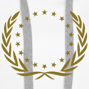 Laurel wreath, star, Award, Best, hero, winner,  Hoodies & Sweatshirts - Women's Premium Hoodie