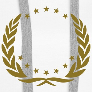 Laurel wreath, stars, award, super, hero, winner,  Felpe - Felpa con cappuccio premium da donna