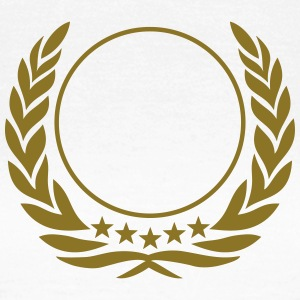 Laurel wreath, 5 stars, Award, Best, hero, winner  T-Shirts - Frauen T-Shirt