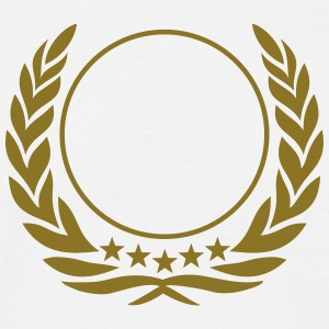 Laurel wreath, 5 stars, Award, Best, hero, winner  T-shirts - Herre-T-shirt