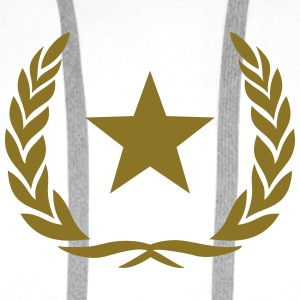 Laurel wreath, star, Award, Best, hero, winner,  Felpe - Felpa con cappuccio premium da uomo