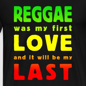 reggae was my first love multicolor T-skjorter - Premium T-skjorte for menn