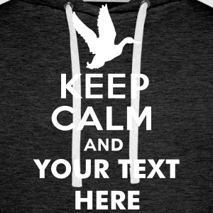 keep_calm_and_duck_hunt_text Sudaderas - Sudadera con capucha premium para hombre