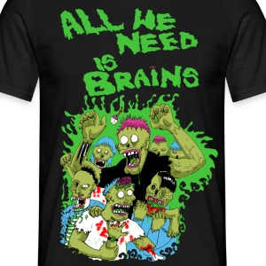 zombies love brains T-Shirts - Men's T-Shirt