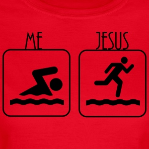 Swimming -  Me vs. Jesus T-Shirts - Frauen T-Shirt
