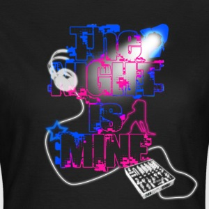 T SHIRT THE NIGHT IS MINE by Florian VIRIOT - T-shirt Femme