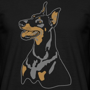 Dobermann Pinscher Head Tee shirts - T-shirt Homme