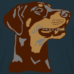 Dobermann Pinscher head T-shirts - Mannen T-shirt