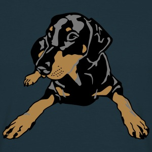 Dobermann Pinscher lying T-shirts - T-shirt herr