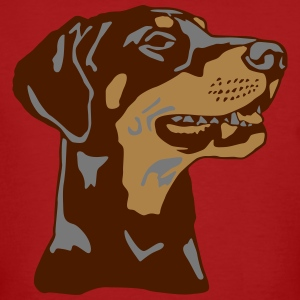 Dobermann Pinscher head T-shirts - Organic mænd