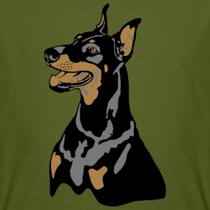 Dobermann Pinscher Head T-skjorter - Økologisk T-skjorte for menn