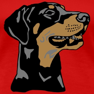 Dobermann Pinscher head T-Shirts - Frauen Premium T-Shirt