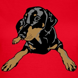 Dobermann Pinscher lying T-Shirts - Frauen T-Shirt