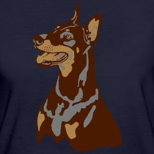 Dobermann Pinscher Head T-shirts - Organic damer