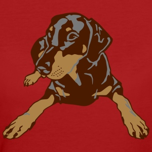 Dobermann Pinscher lying T-Shirts - Frauen Bio-T-Shirt