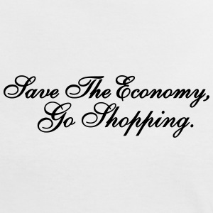 Save The Economy, Go Shopping T-Shirts - Frauen Kontrast-T-Shirt