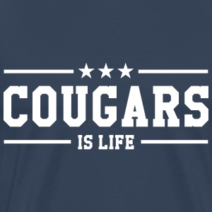 Cougars is life T-Shirts - Men's Premium T-Shirt