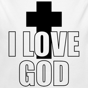 I Love God Hoodies - Longlseeve Baby Bodysuit