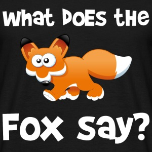 What does the fox say? (white letters) T-shirts - Mannen T-shirt
