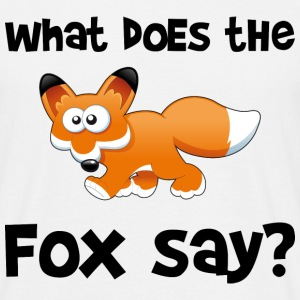 What does the fox say? T-shirts - Mannen T-shirt