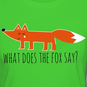 fuchs fox what does the fox say lustige sprüche T-Shirts - Frauen Bio-T-Shirt