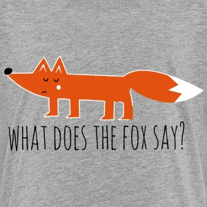 Funny what does the fox say ring ding meme song Shirts - Teenage Premium T-Shirt