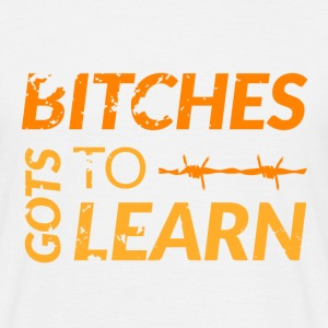 Camiseta Hombre OITNB Bitches gots to Learn - Camiseta hombre