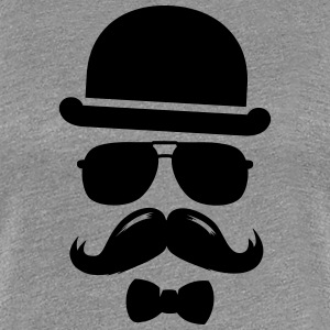 Cool  swag hipster moustache boss man father Tee shirts - T-shirt Premium Femme