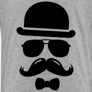 Cool  swag hipster moustache boss man father Shirts - Kids' Premium T-Shirt