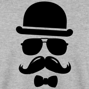 Cool  swag hipster moustache boss man father Sweat-shirts - Sweat-shirt Homme