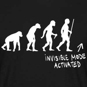 Evolution - Invisible Mode Activated T-Shirts - Männer T-Shirt