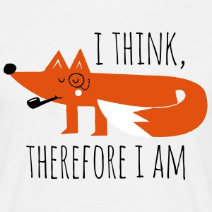 Funny swag fox Philosophy proverb think geek T-Shirts - Men's T-Shirt