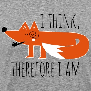 Funny swag fox Philosophy proverb think geek T-Shirts - Men's Premium T-Shirt