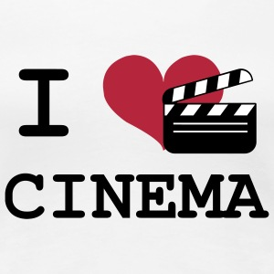 I Love Cinema T-Shirts - Women's Premium T-Shirt