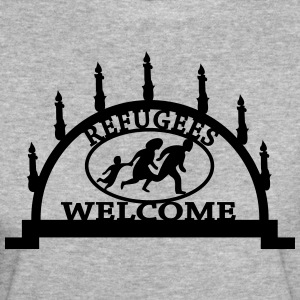Refugees are welcome to Schneeberg T-Shirts - Frauen Bio-T-Shirt