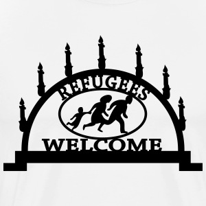 Refugees are welcome to Schneeberg T-Shirts - Männer Premium T-Shirt