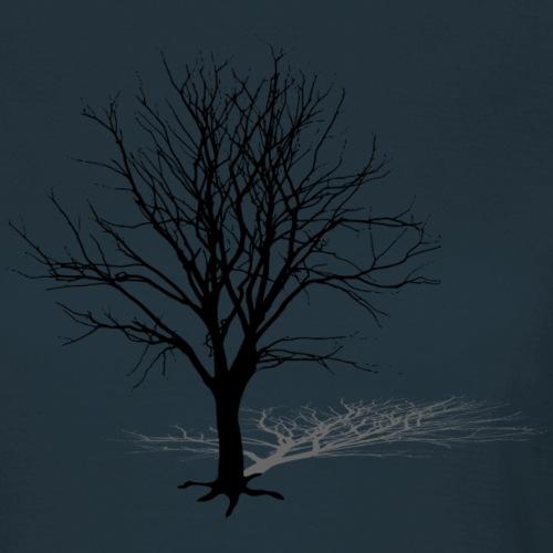 baum silhouette schatten tree shadow ast winter