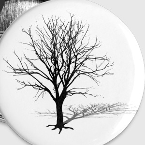 tree silhouette winter shadow Buttons - Buttons large 56 mm