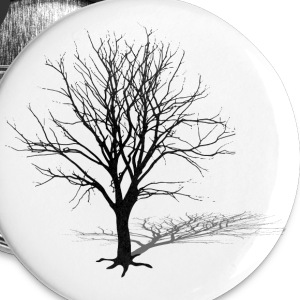 arbre hiver ombre Badges - Badge grand 56 mm