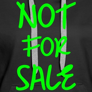 Not for Sale, www.eushirt.com Pullover & Hoodies - Frauen Premium Hoodie