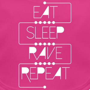eat sleep rave repeat Accessoires - Baby Bio-Lätzchen